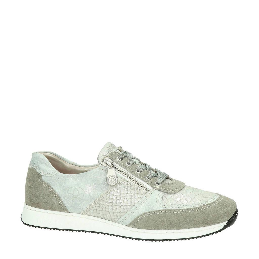 Rieker   sneakers zilver/taupe