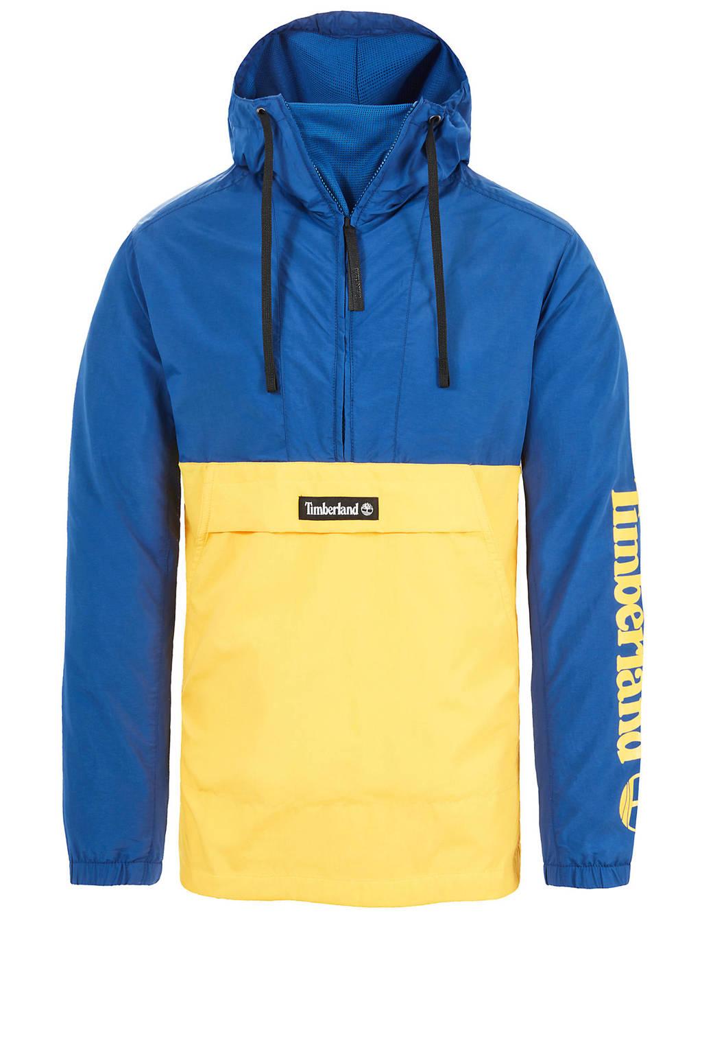 Timberland anorak blauw, Blauw/geel