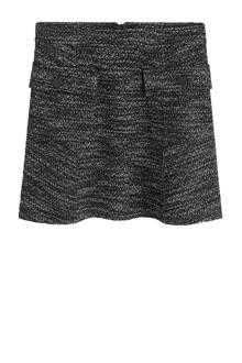 gemêleerde rok grijs