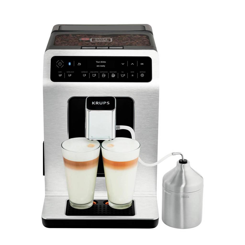 Krups EA893D volautomatisch espressomachine bluetooth, Geborsteld staal, Zwart