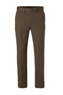 Canda regular fit pantalon met print bruin