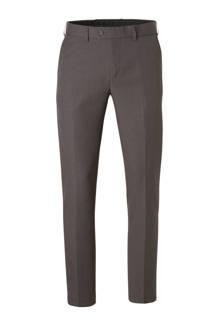 Canda regular fit pantalon met print grijs
