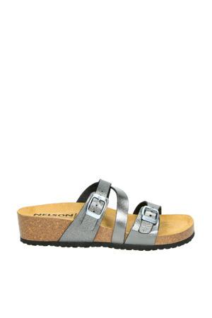 slippers metallic