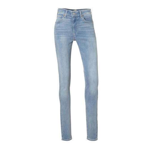 Levi's Mile high waist skinny jeans lichtblauw
