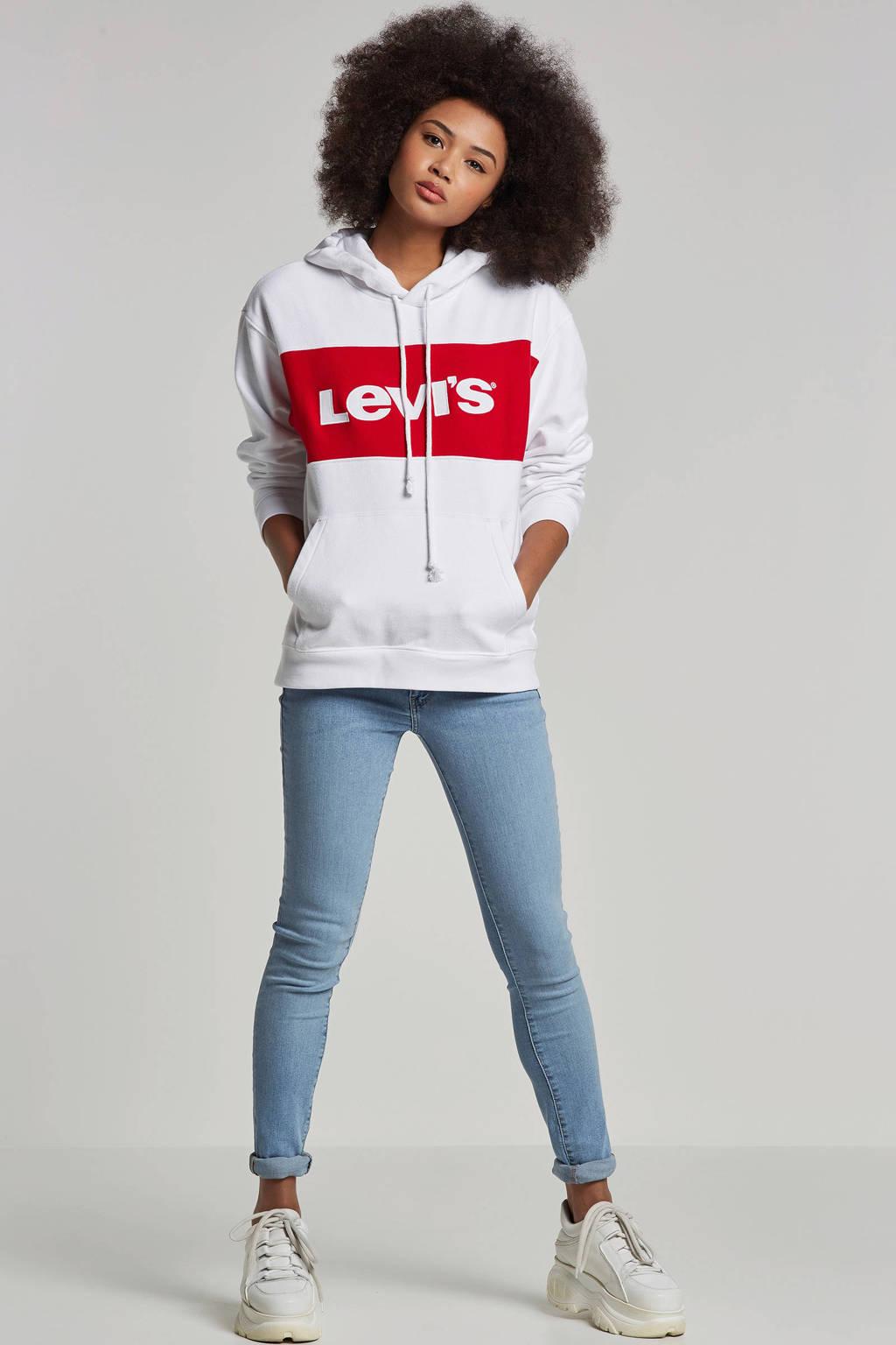 Levi's 711 skinny fit jeans, Blauw