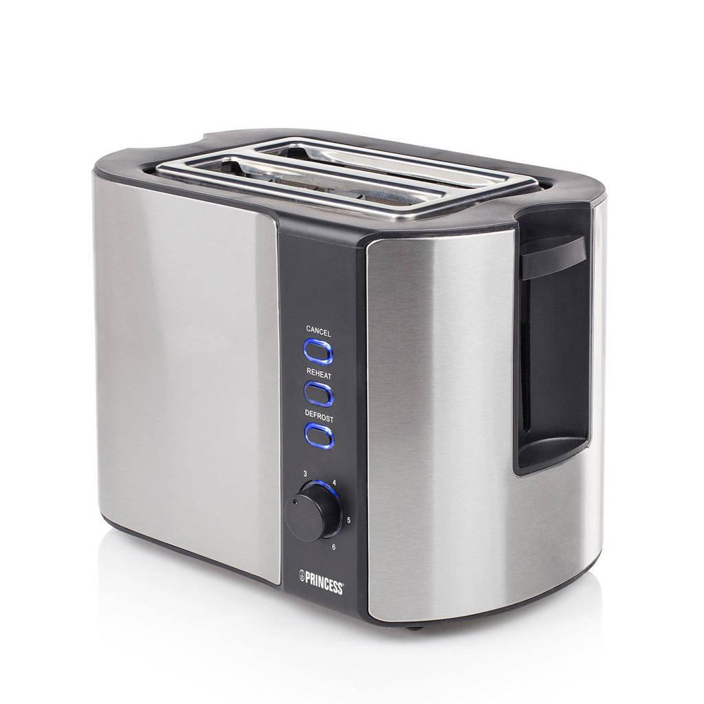 Princess Toaster broodrooster 142352, Zilver/zwart