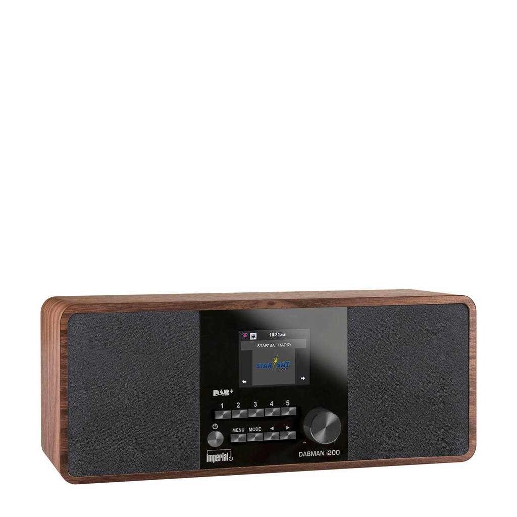 Imperial DABMAN i200 internetradio hout, Hout