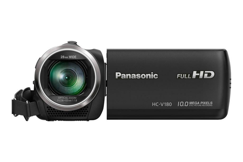 Panasonic HC-V180 EG-K Camcorder, Zwart