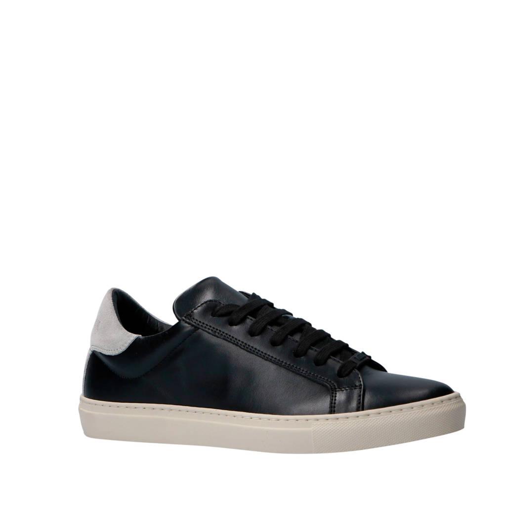 Antony Morato  leren sneakers zwart, Zwart/grijs