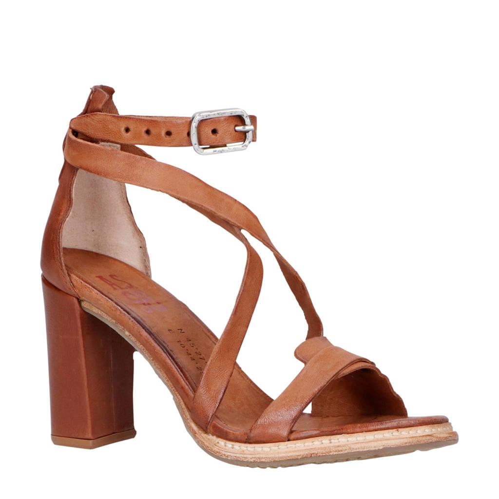 AS98   leren sandalettes bruin, Bruin