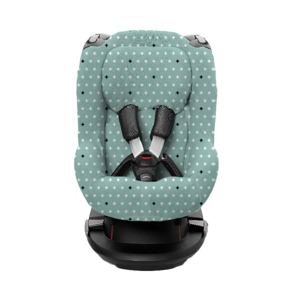 Briljant Baby autostoelhoes 1+ rugsteun crizz crozz stonegreen interlock, Groen