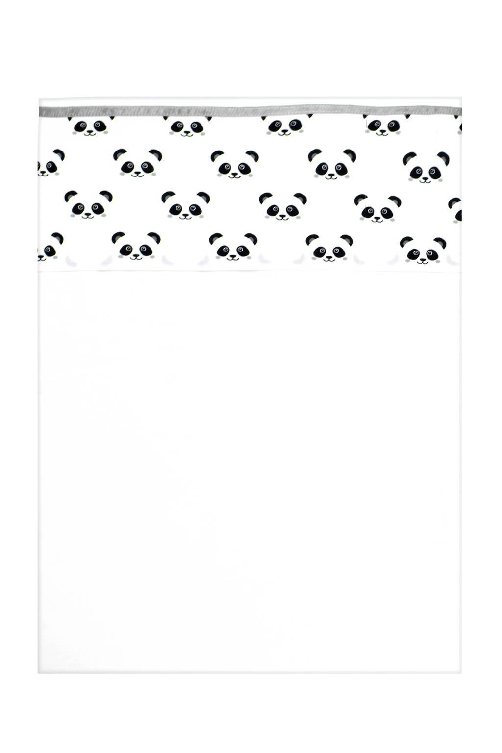 Panda Dreams wieglaken 75x100 cm, Wit
