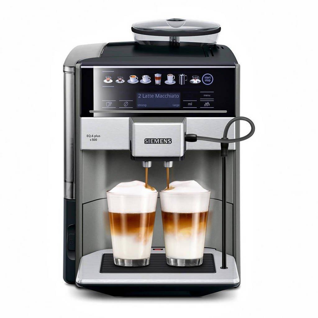 Siemens TE655203RW EQ.6 Plus s500 koffiemachine, Black,Grey,Silver