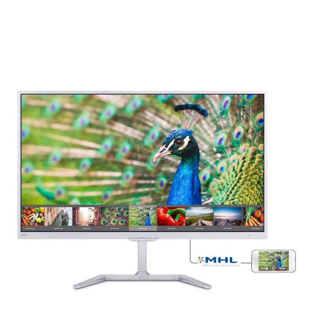 Philips 246E7QDSW/00 23,6 inch Full HD monitor, Wit