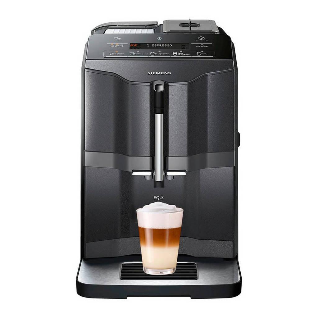 Siemens TI313219RW EQ.3 s300 koffiemachine, Zwart, zilver