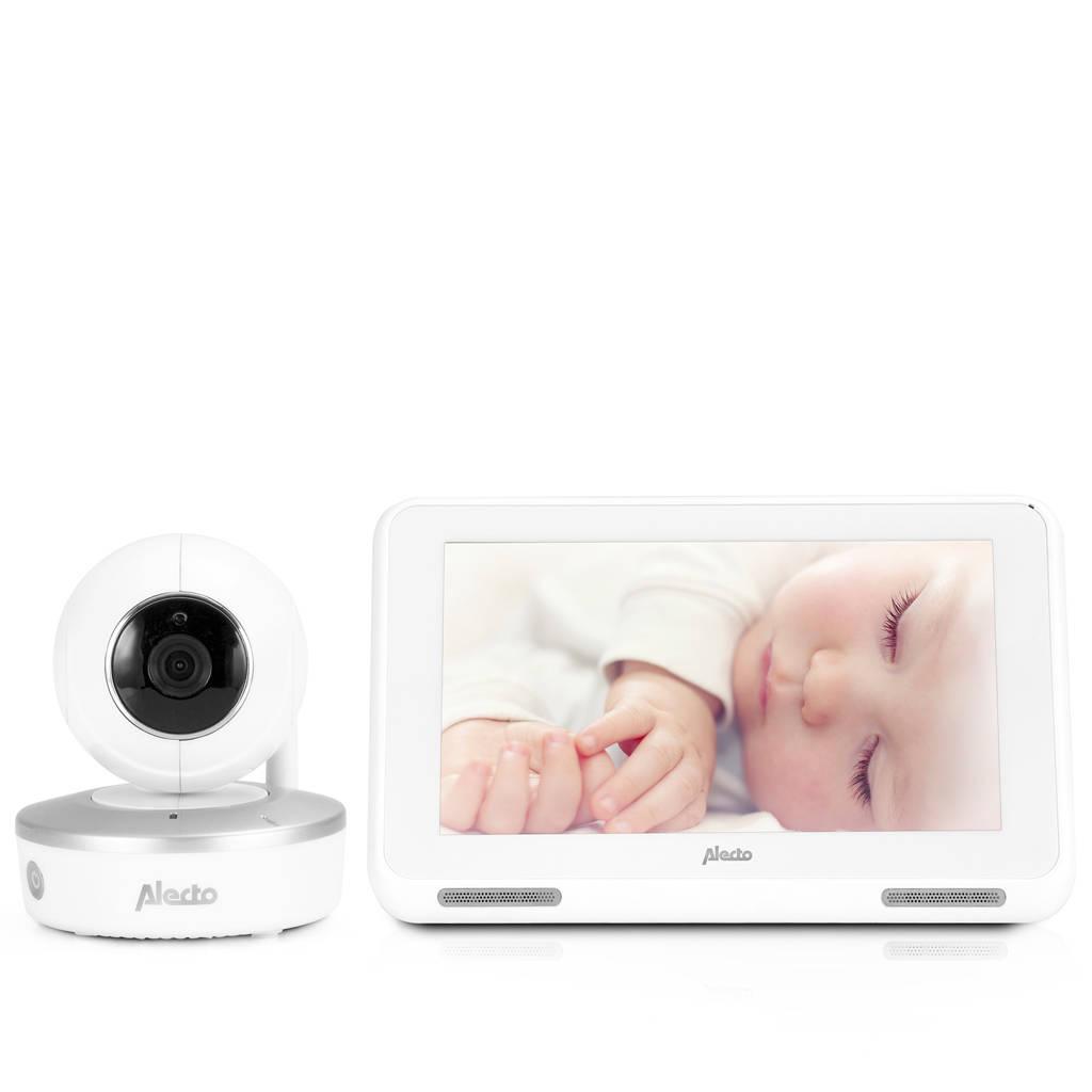 "Alecto DIVM-770 wifi babyfoon met camera en 7"" touchscreen, Wit"