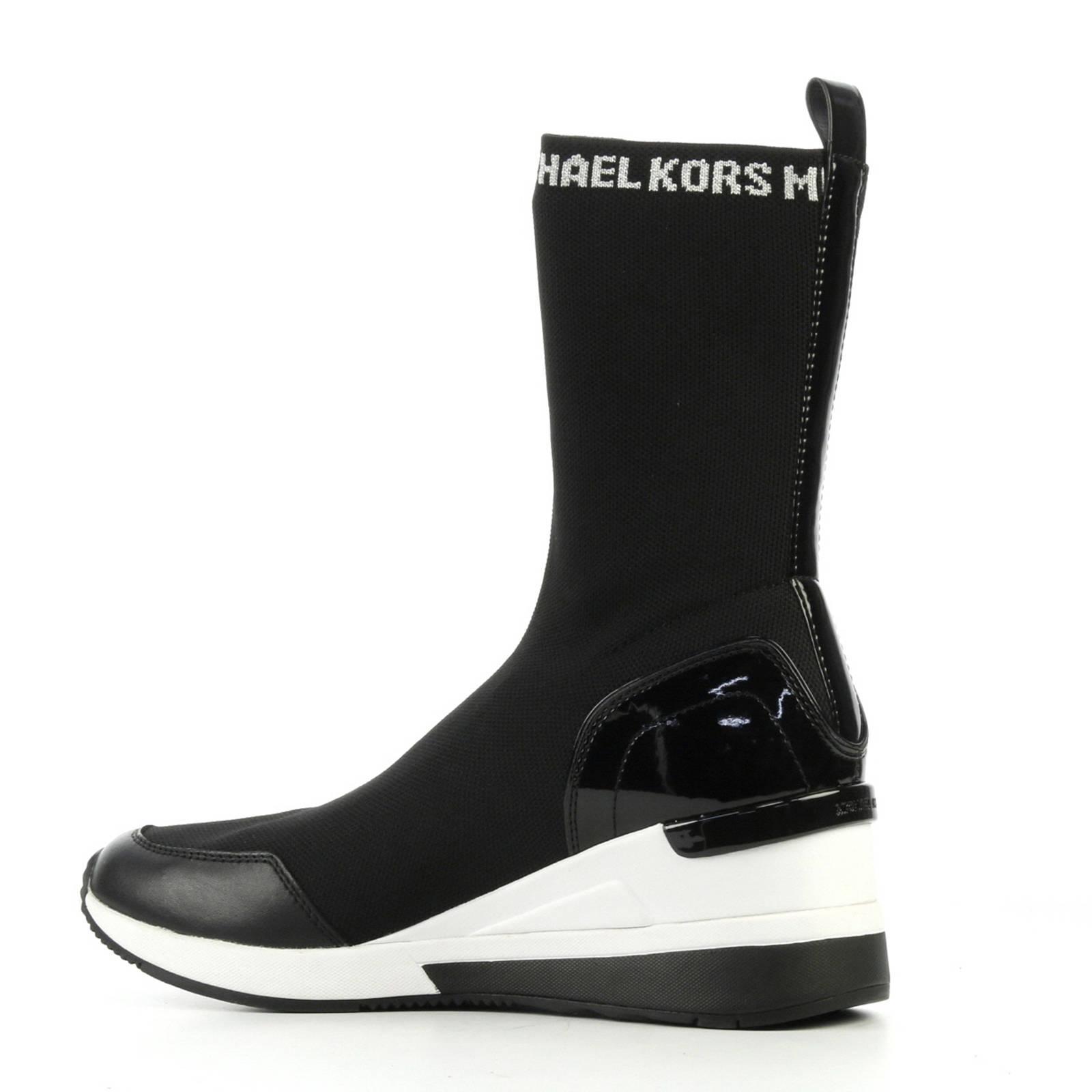 f324b5ae020 Michael Kors sneakers Grover met hoge sok zwart | wehkamp