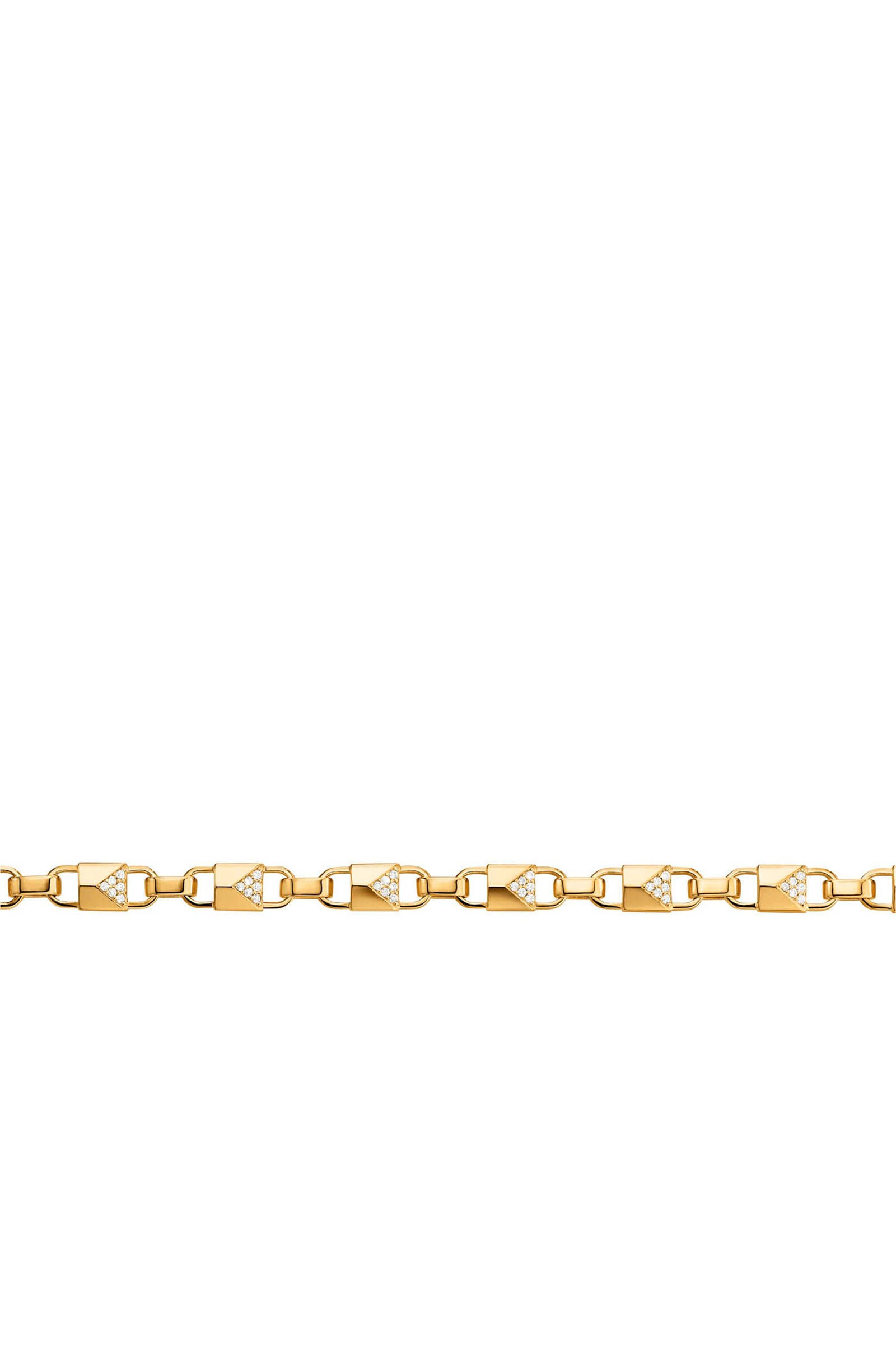 zilveren armband Mercer Link goudkleurig MKC1004AN710