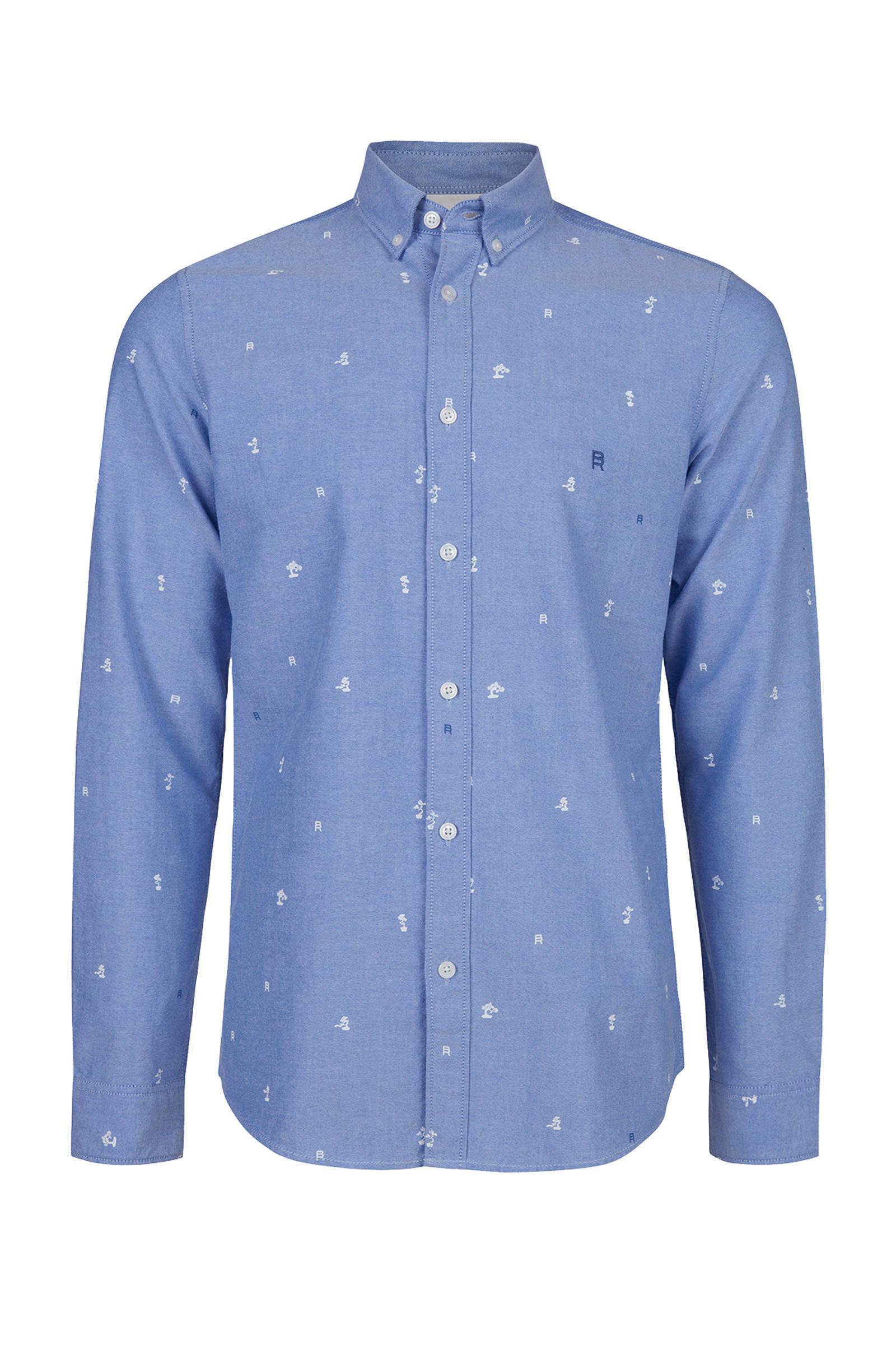 Overhemd Print.Blue Ridge Slim Fit Overhemd Met All Over Print