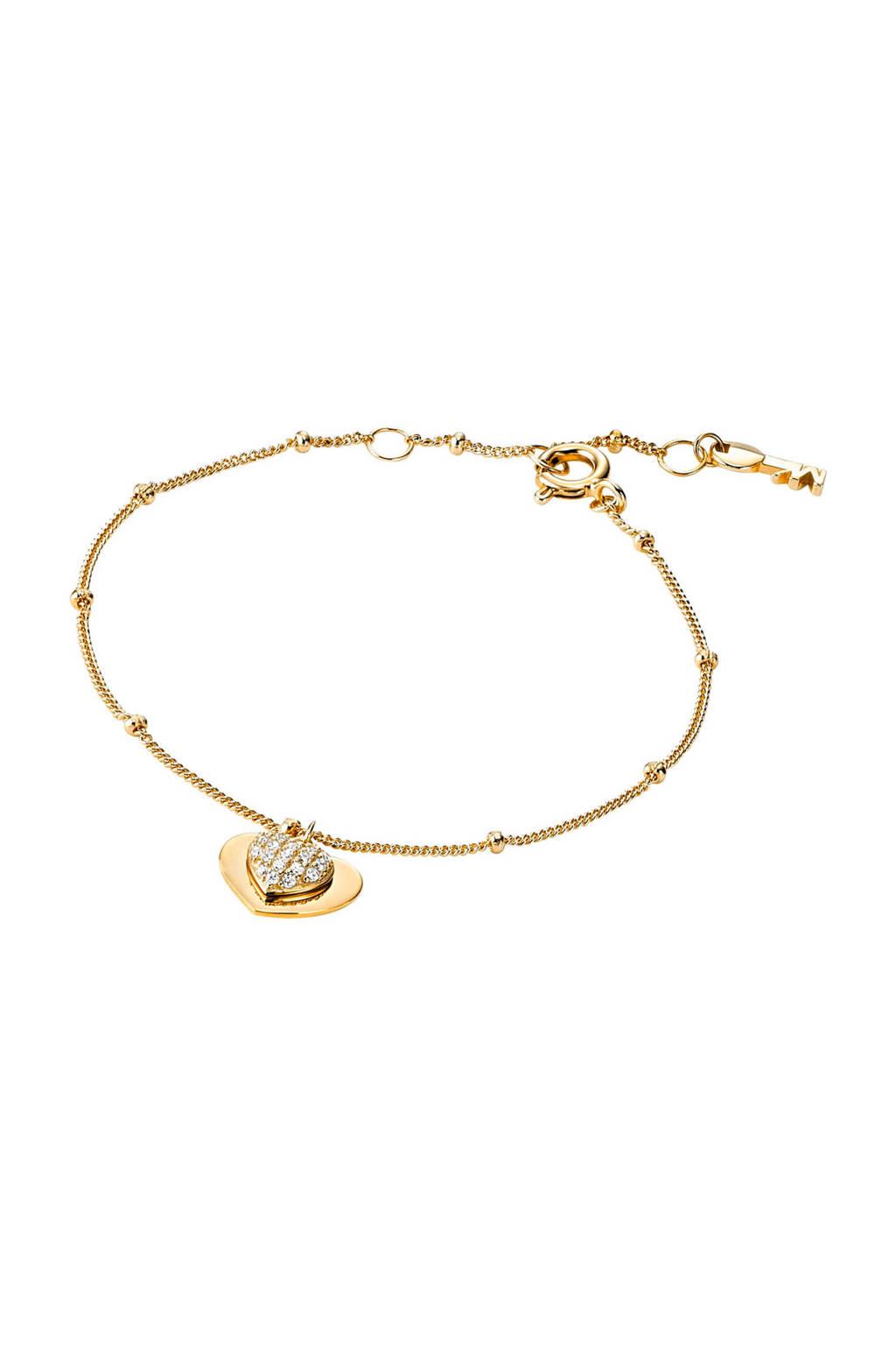 Michael Kors zilveren armband Love goudkleurig - MKC1118AN710, Goud