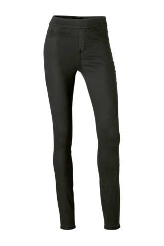 high waist skinny fit coated jegging
