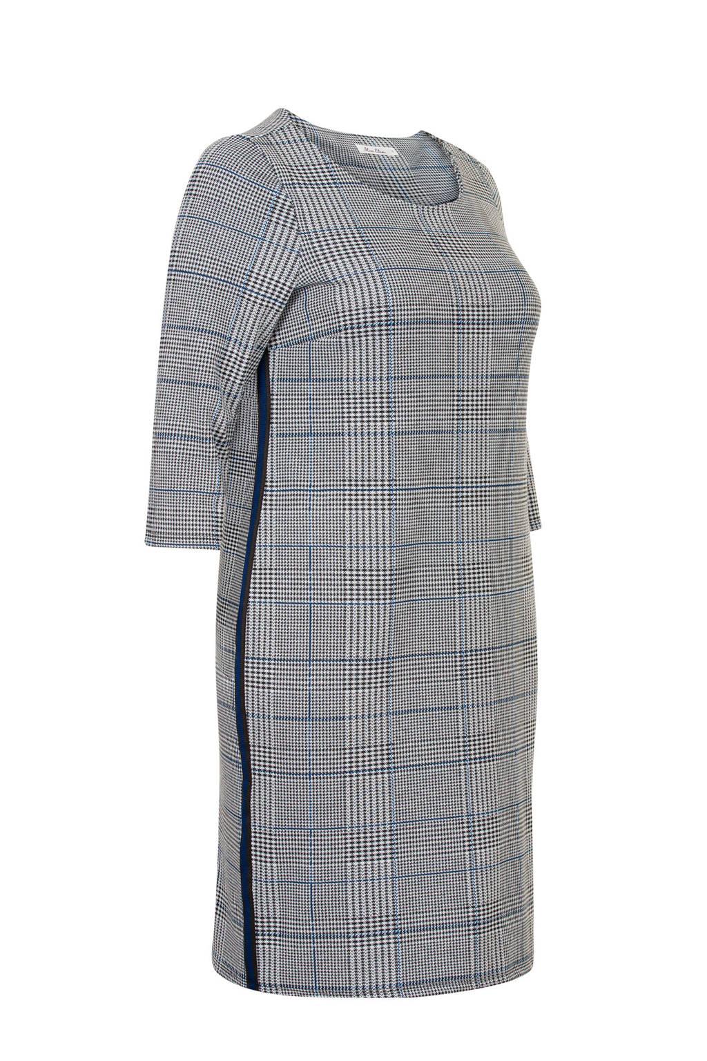 Miss Etam Plus geruite jurk, Zwart
