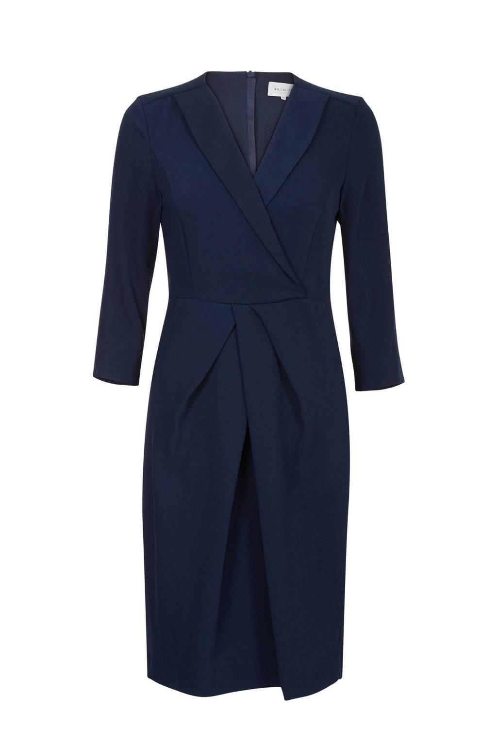 Promiss jurk donkerblauw, Blauw