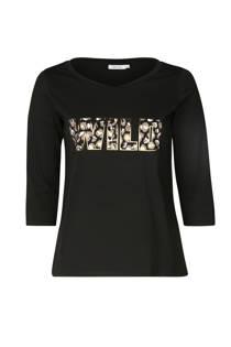 Paprika T-shirt met tekst zwart
