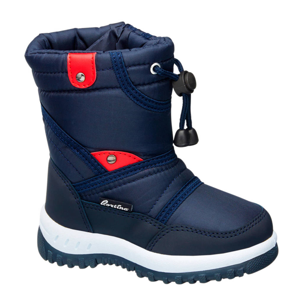vanHaren Cortina gevoerde snowboots donkerblauw kids, Donkerblauw