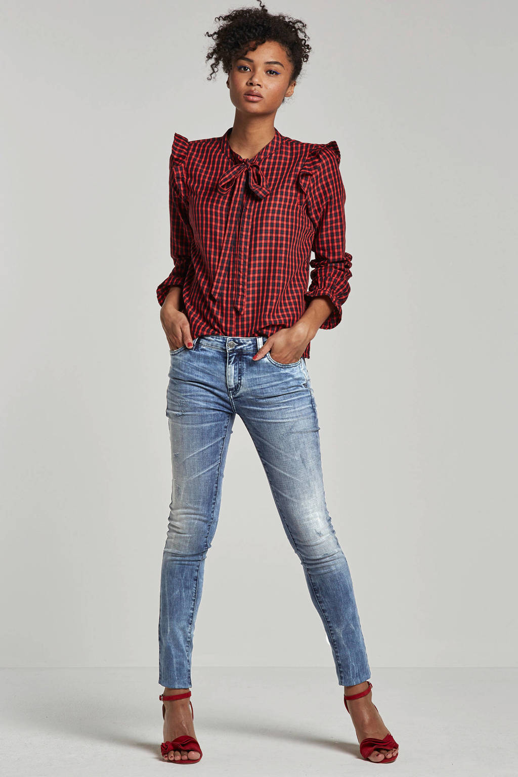 Circle of Trust skinny fit jeans Poppy, Lichtblauw