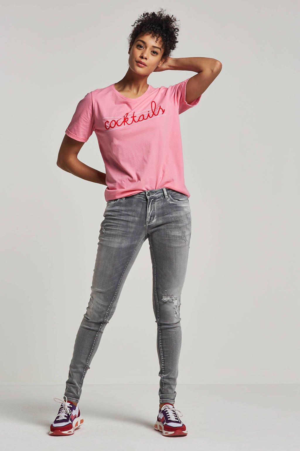 Circle of Trust T-shirt Paradise met printopdruk roze, Roze