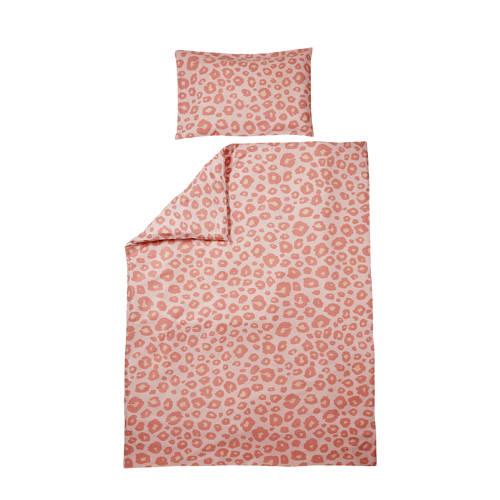 Meyco katoenen Panter dekbedovertrek junior bed 120x150 cm roze kopen