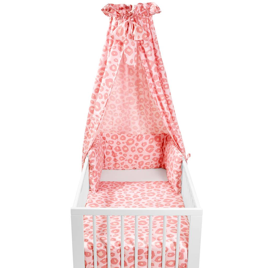 Meyco Panter babyset ledikant (4-delig) roze, Roze