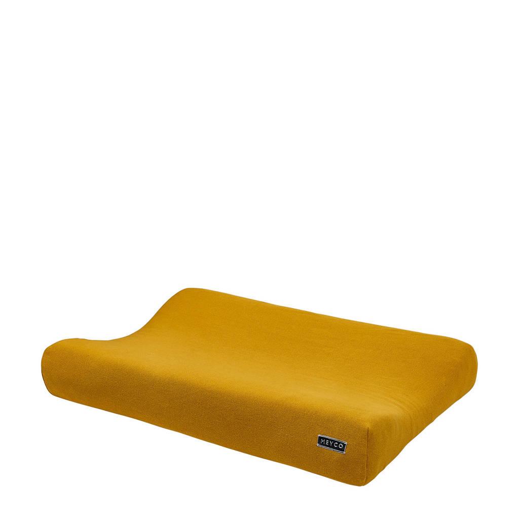 Meyco Knit Basic aankleedkussenhoes 70x45 cm okergeel, Okergeel