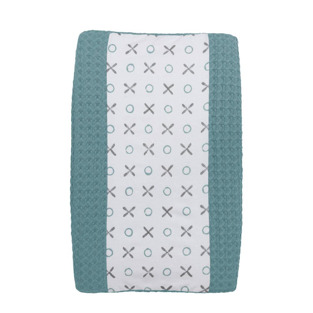 Meyco Silverline XO aankleedkussenhoes groen 45x70 cm, Groen