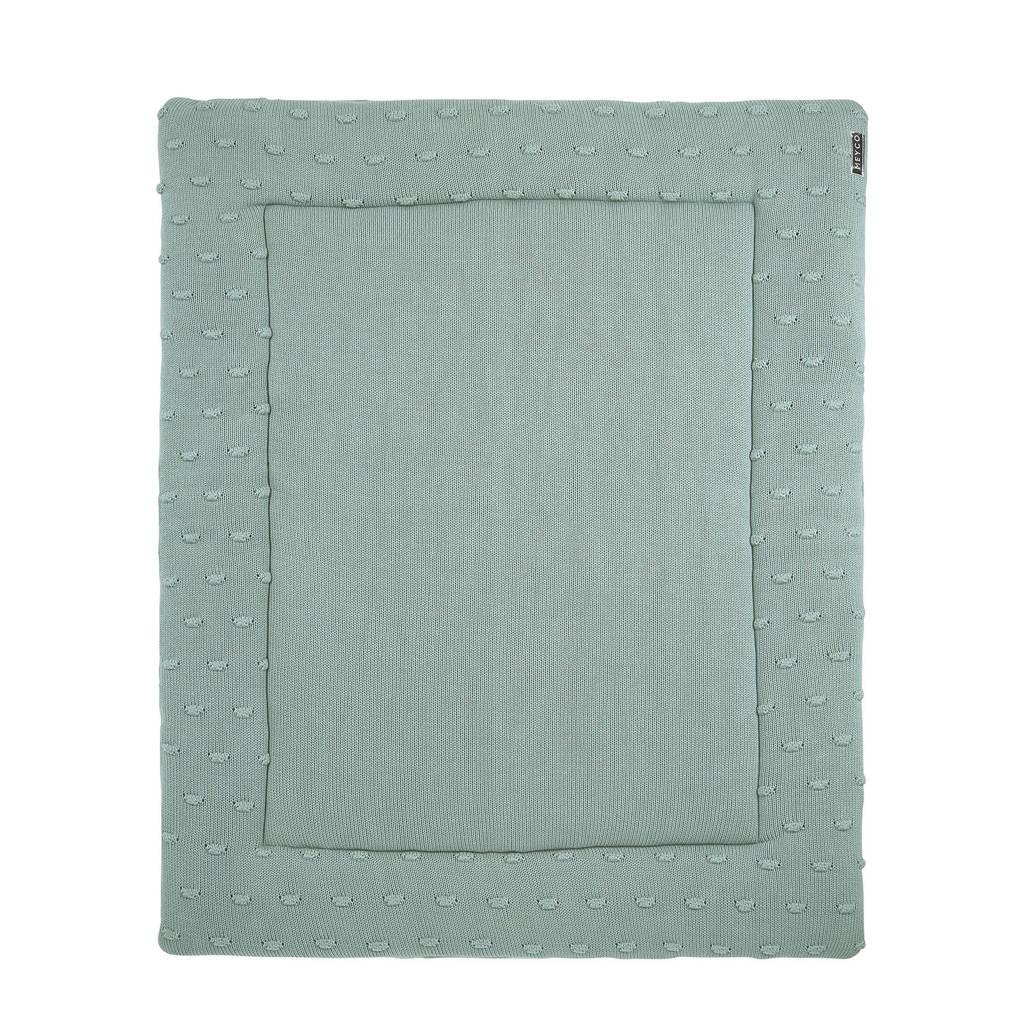 Meyco Silverline Knots boxkleed 77x97 cm groen, Groen