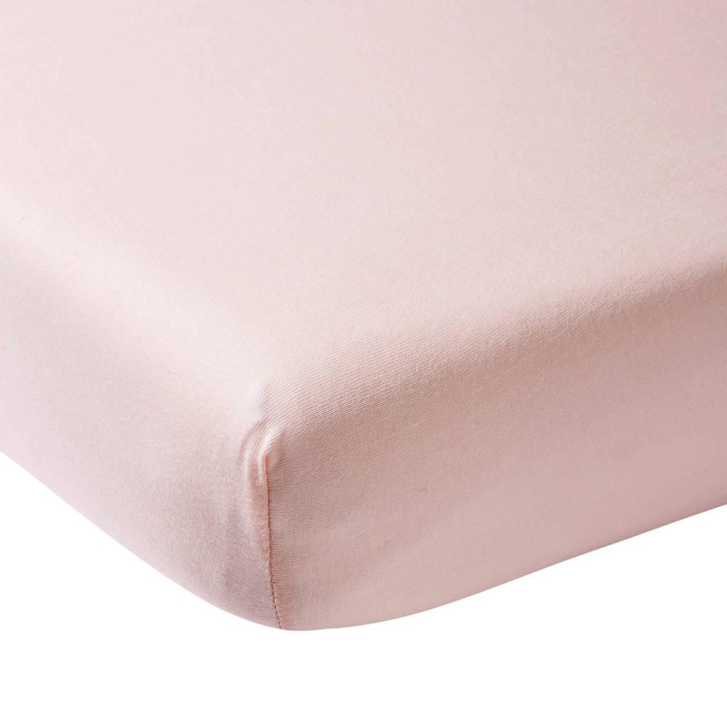 Meyco hoeslaken boxmatras 75x95 cm lichtroze, Lichtroze