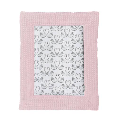 Meyco Silverline Swan boxkleed roze 97x77 cm kopen