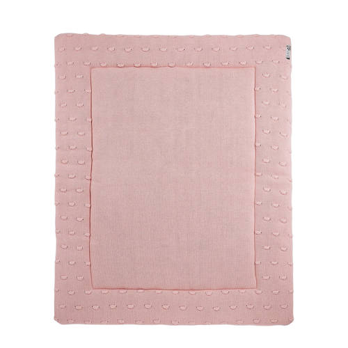 Meyco Silverline Knots boxkleed 77x97 cm roze