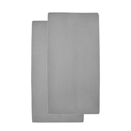 hoeslaken ledikant grijs 60x120 cm (set van 2)