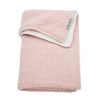 Meyco Relief Mixed wiegdeken met velours 75x100 cm roze, Roze