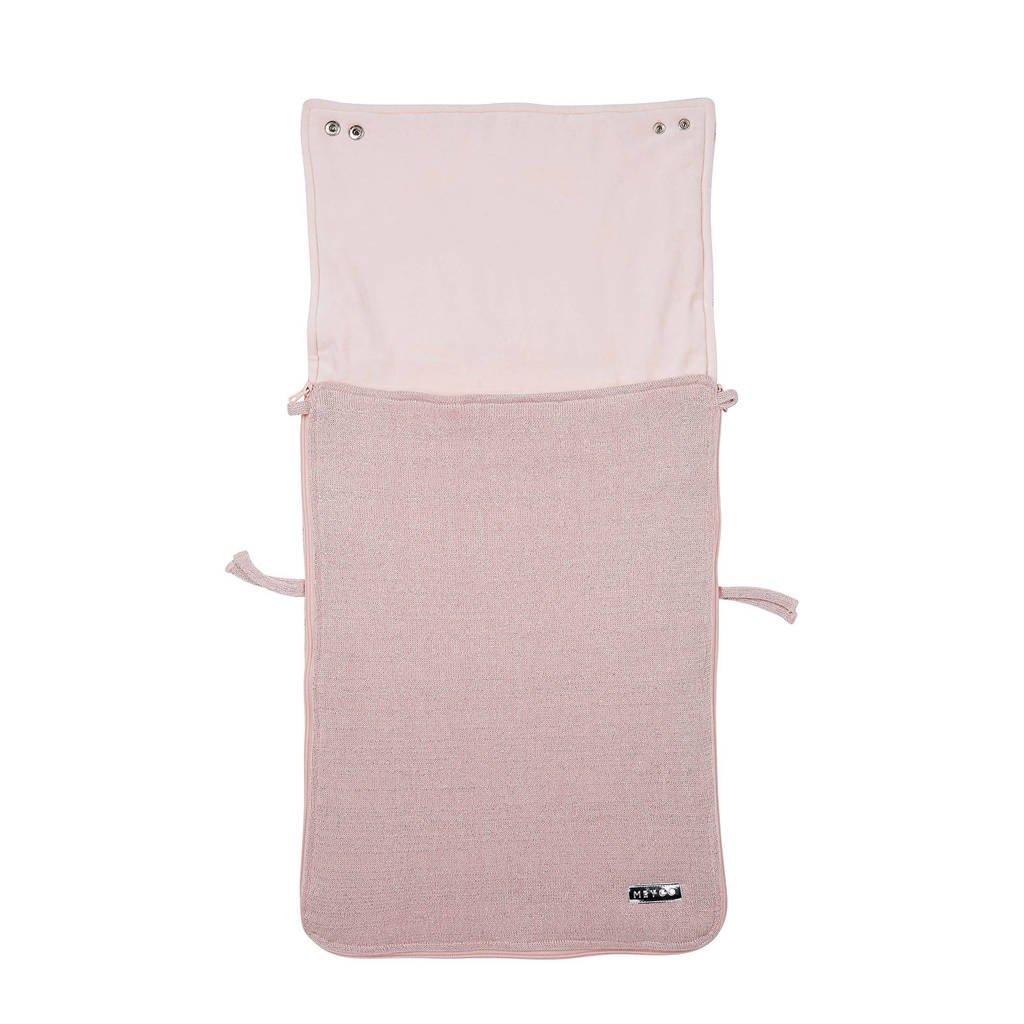 Meyco Knit Basic deluxe voetenzak groep 0 lichtroze, Roze