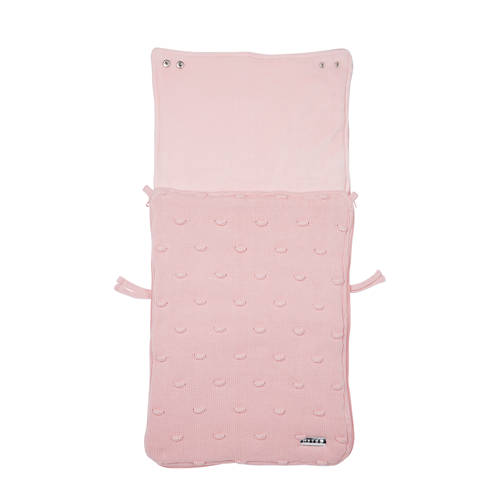 voetenzak groep 0 knot basic deluxe roze