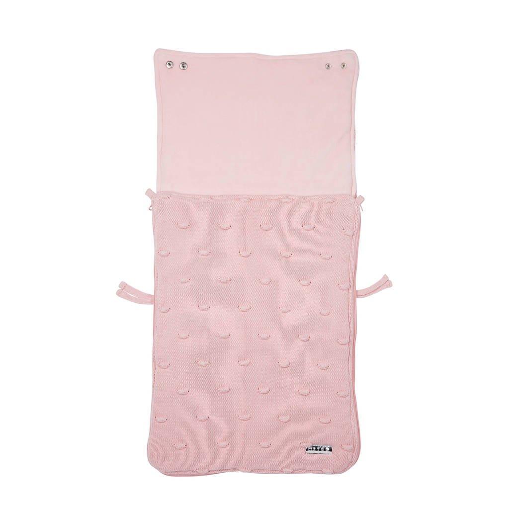 Meyco Silverline Knots voetenzak groep 0 roze, Roze