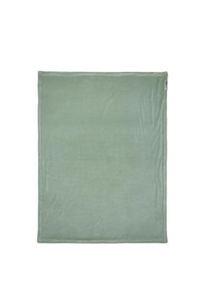 Knit Basic deluxe baby ledikantdeken met glitters 100x150 cm stone green