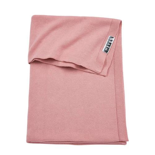 ledikantdeken knit uni oudroze 100x150 cm