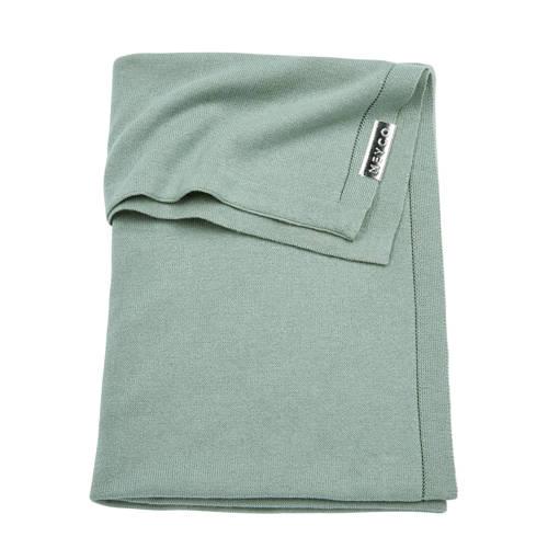 ledikantdeken knit uni groen 100x150 cm