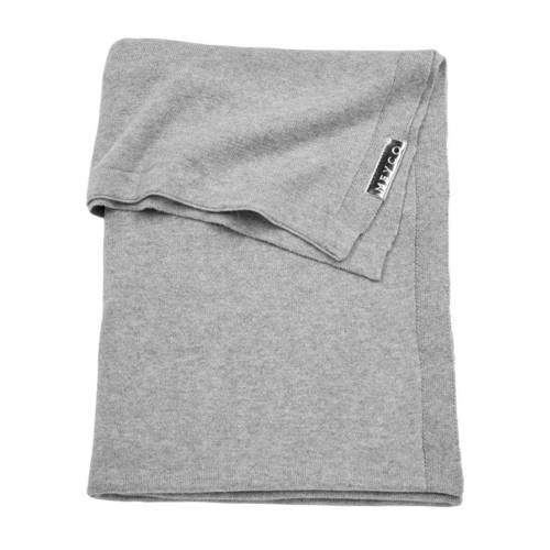 ledikantdeken knit uni grijs 100x150 cm