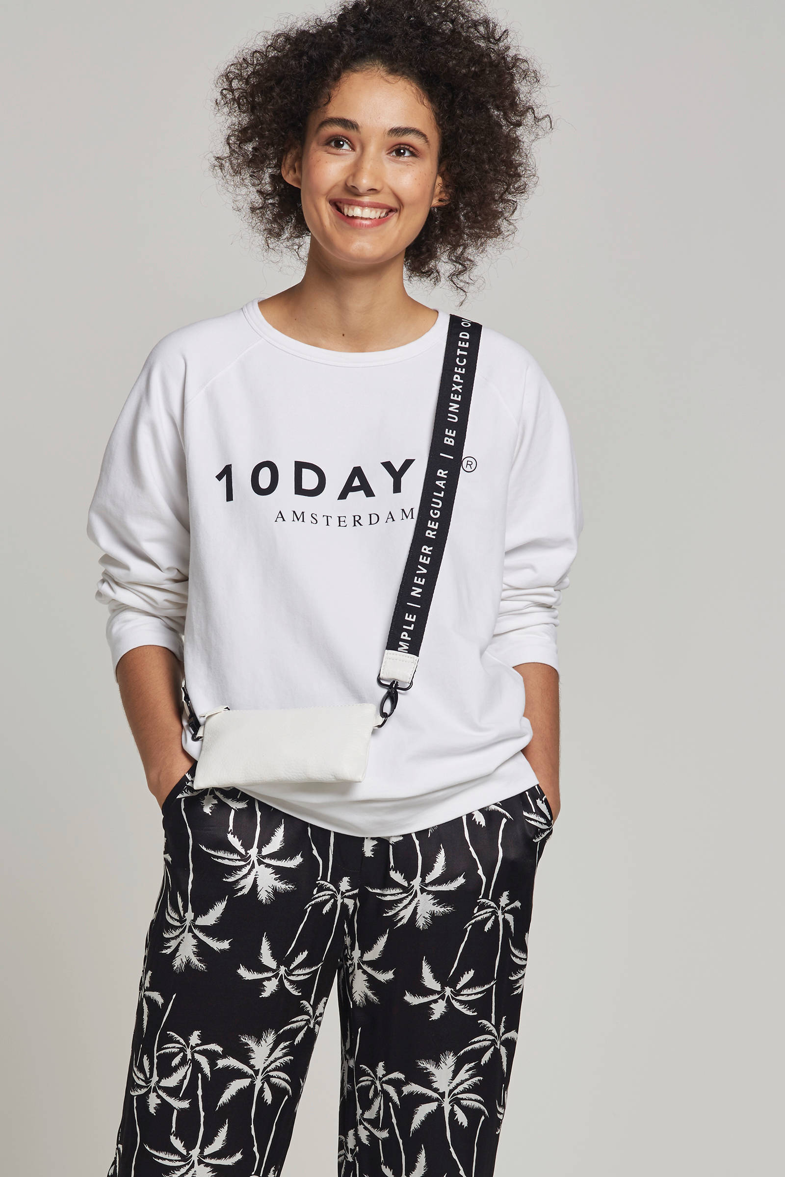 10DAYS sweater met logo opdruk