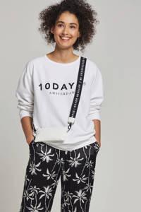10DAYS sweater met logo opdruk, Wit